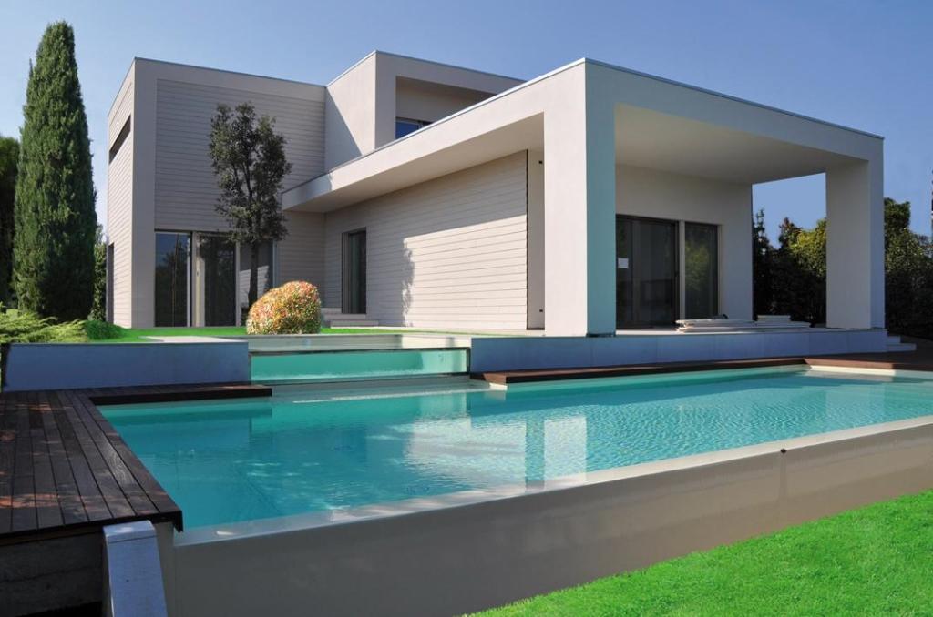 casa con piscina lago di garda creaton italia